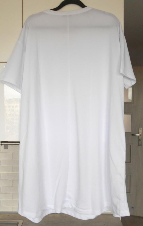 Zara nowa biała sukienka tshirt oversize luźna w Suknie i