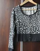 Czarny panterkowy sweterek S
