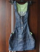 Spóniczka jeansowa ogrodniczka S