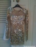 Sukienka przezroczysta z siateczki