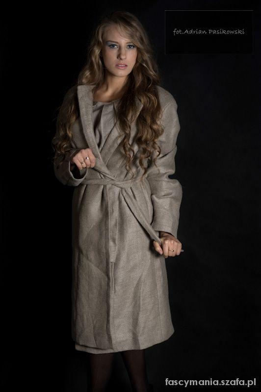 Odzież wierzchnia lniany płaszcz