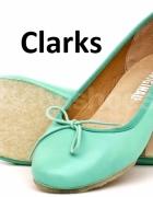 37 375 Clarks nowe śliczne miętowe balerinki