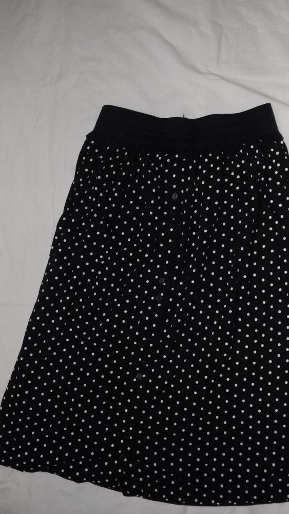 Spódnice czarna spódniczka w groszki w kropki 38 M