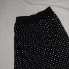 czarna spódniczka w groszki w kropki 38 M