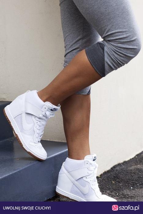 the best attitude 2bcfc e270f Nike na koturnie białe.