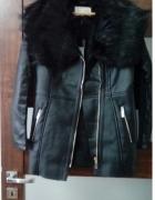 Płaszcz kurtka ramoneska z futerkiem River Island