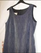 Długa suknia szarografitowa ROMAN 40