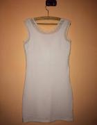 Biała prosta sukienka rozmiar M