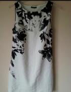 Sukienka mohito z czarnym motywem kwiatowym 36 38...