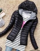 Czarna kurtka pikowana wiosna...