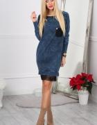 Sukienka Dekatyzowana Jeansowa