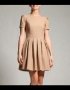 Orsay sukienka rozkloszowana beżowa lata 50...