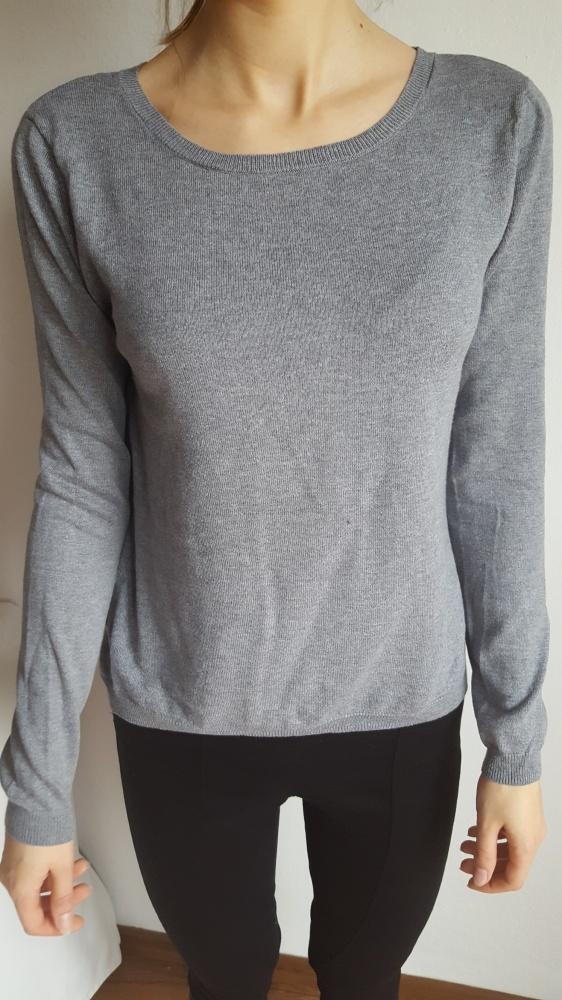 Swetry Sweter z zamkiem z tyłu i koszulą Pimkie M