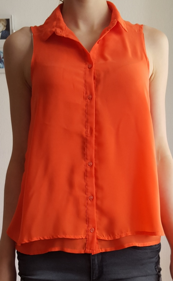 Koszule Pimkie koszula bez rękawów mgiełka pomarańczowa