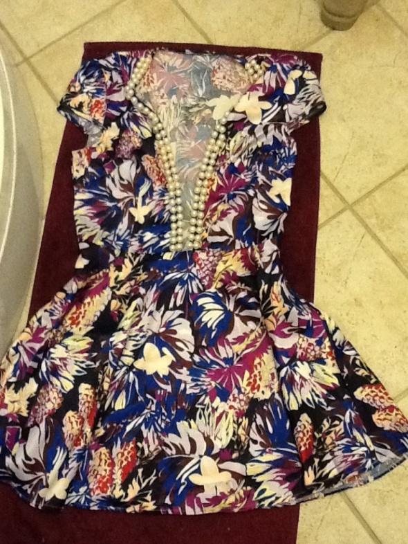 Sukienka rozkloszowana siateczka