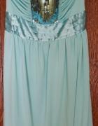 sukienka miętowa bombka cekiny
