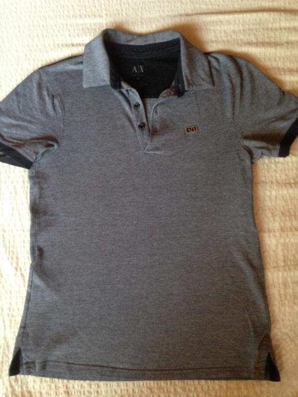 Bluzki tshirt POLO ARMANI EXchange szary piekny