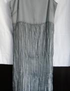 sukienka plisowana r 38 srebrna
