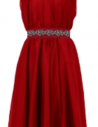 Czerwona sukienka z szyfonu