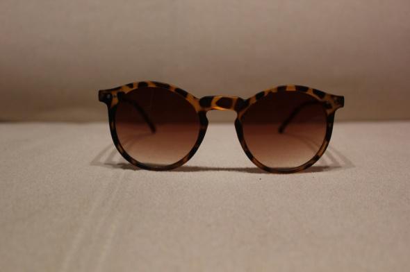 okulary przeciwsłoneczne okrągłe retro vintage len