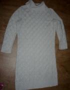 ażurowa biała tunika Orsay roz M