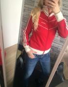 Adidas czerwona bluza XS S