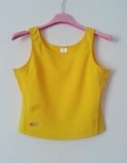 Top crop sport bluzka na ramiączkach fitness żółta
