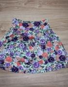 spódnica spódniczka rozkloszowana floral kwiaty H&