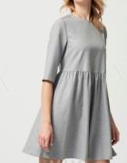 sukienka odcinana pod biustem falbanka