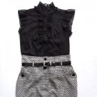 czarno biała spódnica