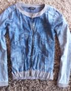 Marmurkowa cieniowana bluza S złoty zip