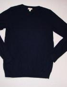 GAP granatowy sweter silk jedwab M L...