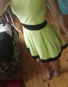 Limonkowa sukienka S XS
