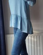 Zwiewna bluzeczka z cienkiego jeansu