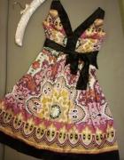 kolorowa sukienka l