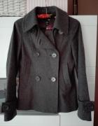 H&M płaszczyk 36 S dwurzędowy szary