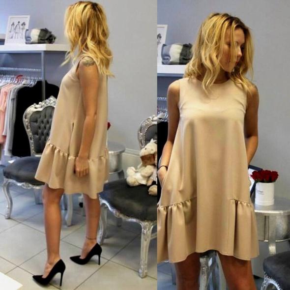 BEIGE DRESS...