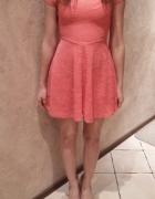 Brzoskwiniowa sukienka H&M