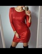 Czerwona karnawałowa sukienka z cekinami