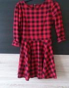 sukienka kratka czerwona czarna uniwersalny