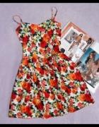 Sukienka w kwiaty rozm 38