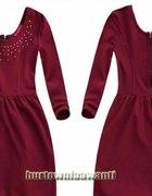 Rozkloszowana sukienka dżety