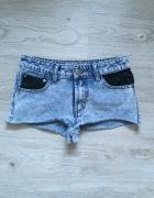 Szorty wstawki S spodenki jeansowe