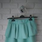 miętowa pastelowa spódniczka falbany