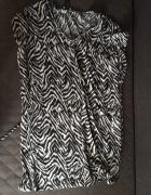Tunika letnia zebra H&M oversize
