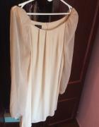 Sukienka topshop top shop mgiełka bezowa ecru L M