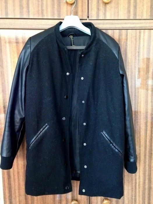 Odzież wierzchnia Czarny płaszczyk baseball