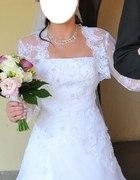 Piękna suknia ślubna haftowana z kryształkami S