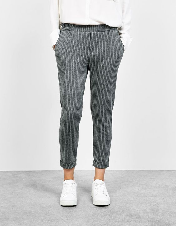 Ubrania spodnie joggers BERSHKA
