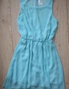 Sukienka miętowa 34